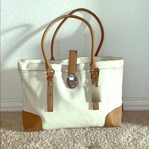 Tumi Leather Women's Work bag (cream/tan)